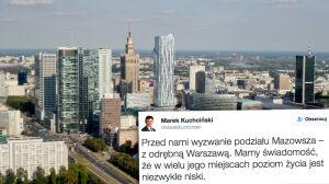 """Marszałek Sejmu zapowiada: """"Przed nami wyzwanie podziału Mazowsza"""""""