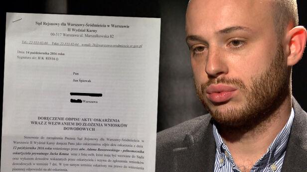 Pozew karny przeciwko Janowi Śpiewakowi MJN / Archiwum TVN