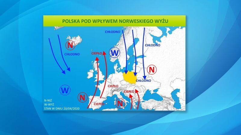 Polska pod wpływem norweskiego wyżu
