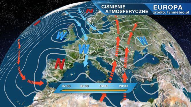 Do Polski płynie chłodne i wilgotne powietrze