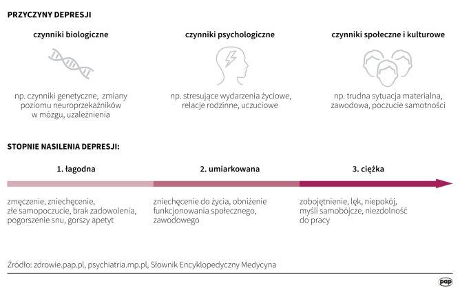 Przyczyny i stopnie nasilenia depresji (Maria Samczuk/PAP)
