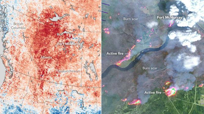 El Nino winne pożarowi w Kanadzie. Susza <br />i wysoka temperatura podsycają ogień