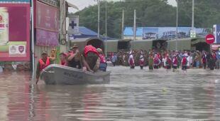 Powódź w Kambodży