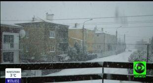 Śnieg na Suwalszczyźnie (TVN24)